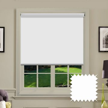 Blackout White Roller Blind - Astral White